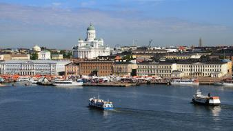 Finland helsinki cityscapes viewscape wallpaper