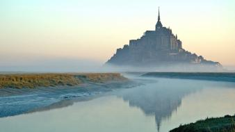 France mount st. michael avion normandy simplistic Wallpaper