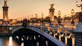 France paris bridges cities city lights wallpaper