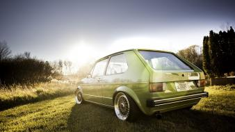 Gti volkswagen golf lowered stance wallpaper