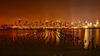 Hudson river new york city cities skyline piers wallpaper