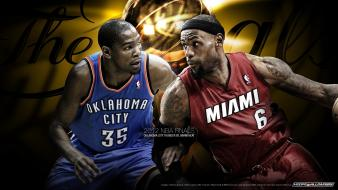 James miami heat nba oklahoma city thunder wallpaper