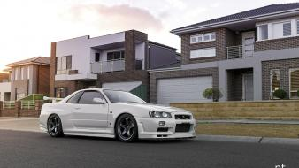 Japanese cars jdm r34 skyline wallpaper