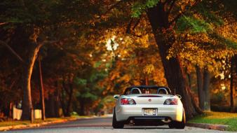 Jdm japanese domestic market autumn cars roads Wallpaper