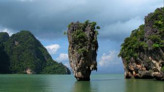 Kan phang nga bay phuket thailand landscapes wallpaper