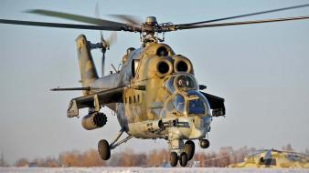 Mi-24 hind helicopters Wallpaper