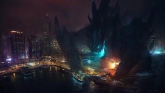 Pacific rim artwork cities monsters movies wallpaper