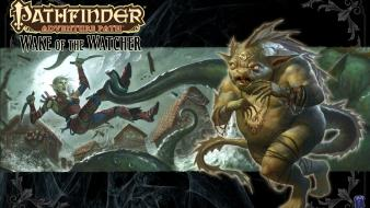 Pathfinder rogue fantasy art monsters wall wallpaper