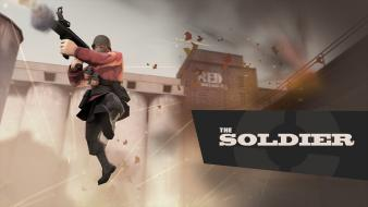 Soldier tf2 team fortress 2 valve corporation Wallpaper