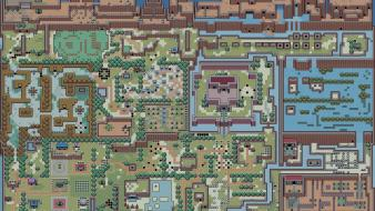 The legend of zelda maps retro games Wallpaper