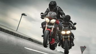 Triumph speed triple bikers motorbikes wallpaper