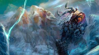 World of warcraft creatures fantasy art frost giant wallpaper