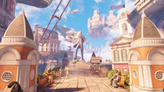 2k games bioshock infinite columbia video wallpaper