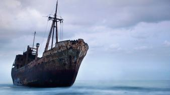 Abandoned ships shipwreck wallpaper