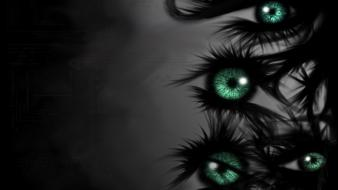 Abstract dark darkness eyes wallpaper