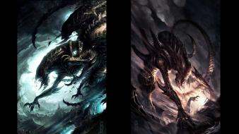 Alien vs. predator fan art movies wallpaper