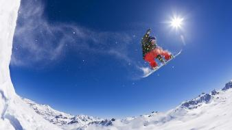 Alps snowboarding wallpaper