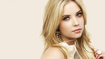 Ashley benson blondes blue eyes white background wallpaper