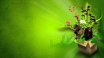 Audio jungle creative digital art green wallpaper