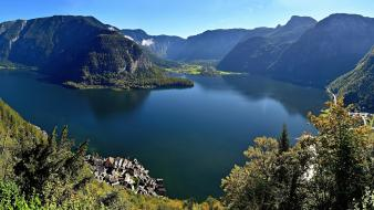 Austria hallstatt unesco world heritage site forests lakes Wallpaper