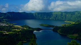 Azores deva portugal blue cities wallpaper