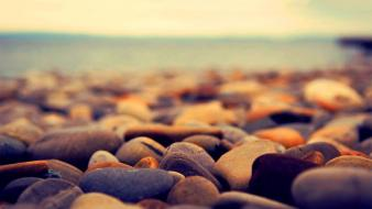 Beach stones photography wallpaper