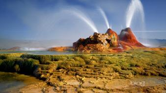 Bing yellowstone national park geysers nature wallpaper