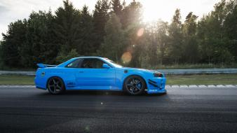 Blue cars drift maximum r34 wallpaper