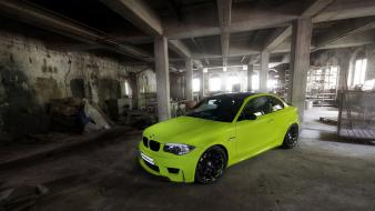 Bmw 1 series m coupe cars green static wallpaper