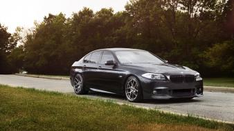 Bmw m5 f10 cars rims roads trees Wallpaper