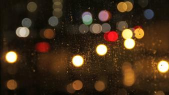Bokeh rain wallpaper