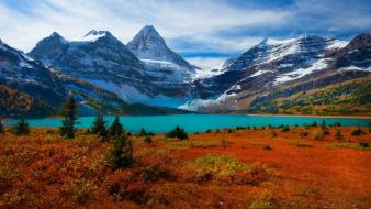 British columbia canada mount assiniboine autumn clouds wallpaper