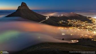 Cape town national geographic cityscapes fog landscapes wallpaper
