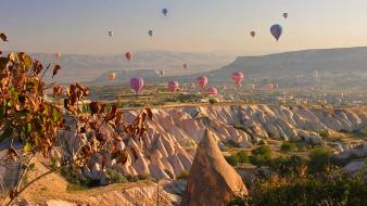 Cappadocia hot air balloons natural wallpaper