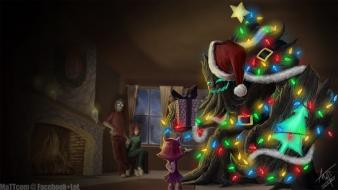 Christmas trees league of legends maokai presents wallpaper