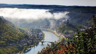 Cochem germany mosel bridges castles Wallpaper