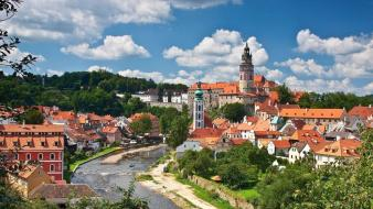 Czech republic cities cityscapes český krumlov wallpaper