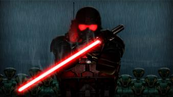 Dark digital art lasers red video games wallpaper