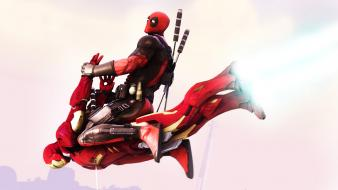Deadpool wade wilson iron man vs Wallpaper