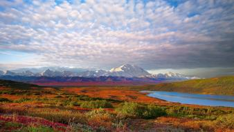 Denali national park clouds landscapes mountains wallpaper