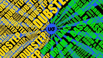 Drum and bass dubstep multicolor music typography wallpaper