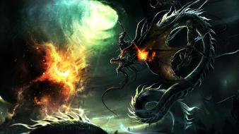 End dragon legendary destruction dragons fire wallpaper