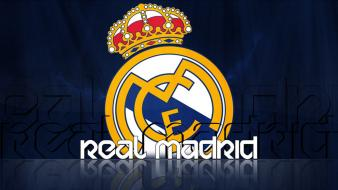 Football logos real madrid teams soccer sports wallpaper