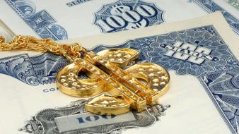 Gold jewelry money wallpaper