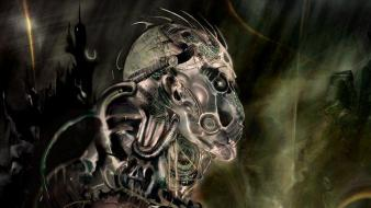 Humanoid dark digital art fantasy wallpaper