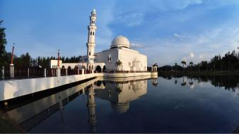 Islam architecture buildings landscapes mosques Wallpaper