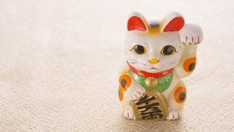 Japan japanese traditions maneki neko cats views wallpaper