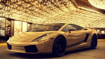 Lamborghini cars gold wallpaper