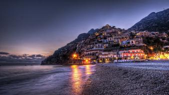 Landscapes positano seaside wallpaper