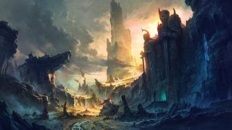 Lord of rings artwork castles concept art wallpaper